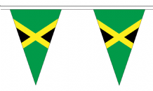 Jamaica Triangular Flag Bunting - 20m Long - 54 Flags
